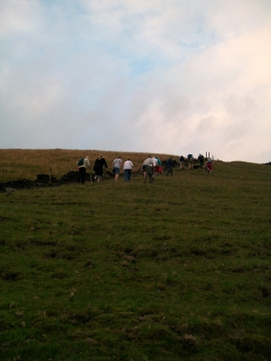 Final push up Cribden Hill