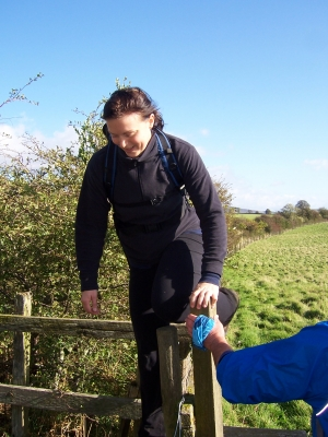 crossing the stile