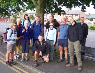 The group on the final leg
