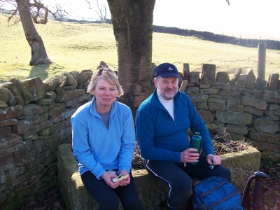 Mike and Heather at lunchtime