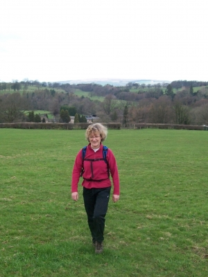 Gill comes up the hill