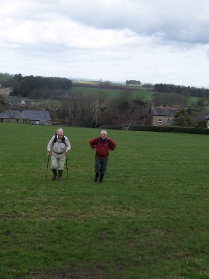 Jim and Allan come up the hill