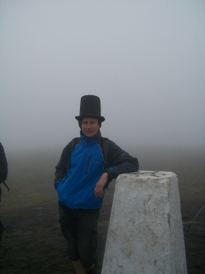 Mist over Pendle with hat