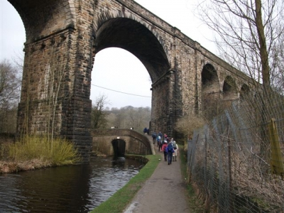 Spectacular Viaduct in Uppermill