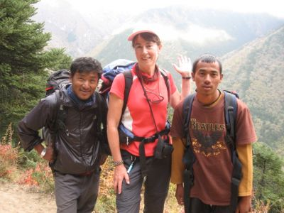 With two of our Sherpas, Sharoz and Razu