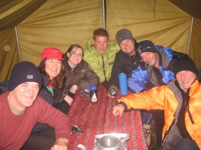 In the Dining Tent