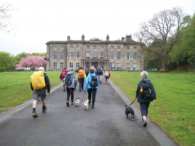 Approaching Haigh Hall