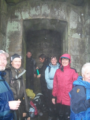 Sheltering at Stoodley Pike