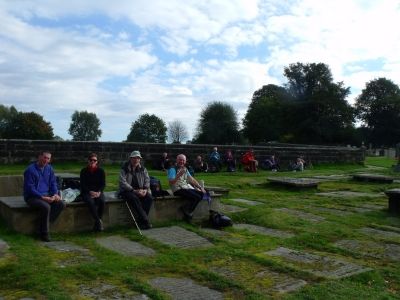Lunch in Rostherne Churchyard
