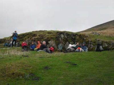 Lunch on Fountains Fell