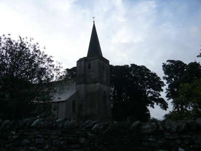 church at start of walk