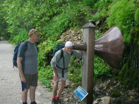 Jim with hearing aid at Lake Gosausee
