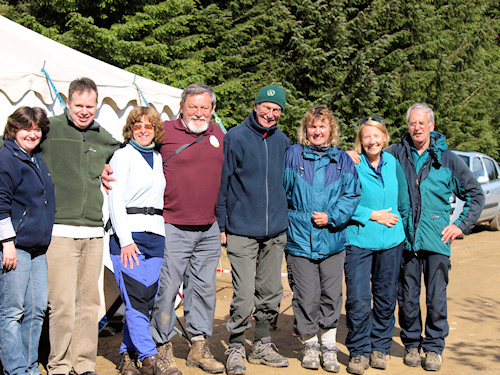 The Checkpoint 14 team - Ruth, Graham, Yvette, Dave, Alf, Pam, Pat & Ivan