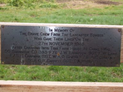 06 Memorial Plaque on Bench, Canal Head