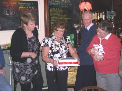 02 - Presentation of cake to Dennis and Mavis