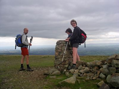 At the Summit of High Pike - when doing recce walk with Caroline and Bob