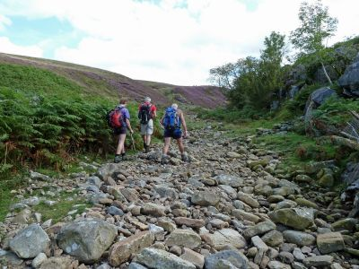Walking up the Valley of Ease Gill