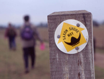 Waymark on the Saxon Shore Way, Kent